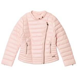 Guess Girls Coats and jackets Pink Pink Padded Pleather Biker Jacket
