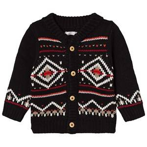 Catimini Boys Jumpers and knitwear Black Black Fairisle Knit Cardigan