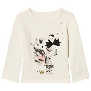 Catimini Girls Tops Cream Cream Illustrated Animal Tee