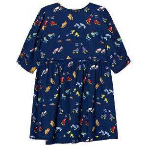 Stella McCartney Kids Girls Dresses Navy Navy Skates Print Meadow Dress