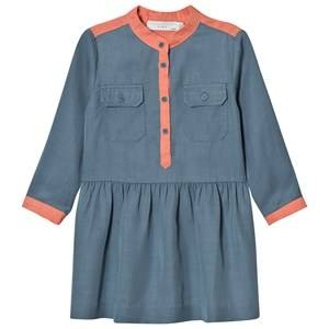 Stella McCartney Kids Girls Dresses Blue Blue and Pink Tess Shirt Dress