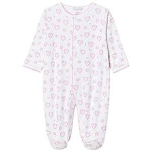 Kissy Kissy Girls All in ones Pink Pink Floral Heart Print Jersey Footed Baby Body