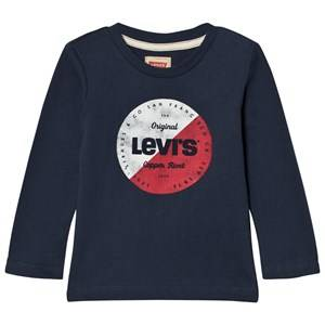 Levis Kids Boys Tops Blue Blue Circle Logo Long Sleeve Tee