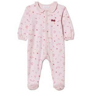 Absorba Girls All in ones Pink Pink Swan, Bird and Cat Collared Jersey Footed Baby Body