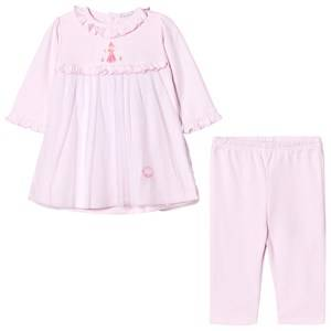 Kissy Kissy Girls Clothing sets Pink Pink Rose Princess Embroidered Tulle Front Dress and Leggings Set