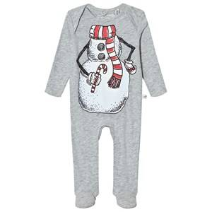 Stella McCartney Kids Unisex All in ones Grey Grey Snowman Rufus Footed Baby Body