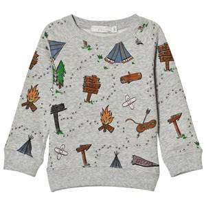 Stella McCartney Kids Boys Jumpers and knitwear Grey Grey Explorer Print Billy Sweatshirt