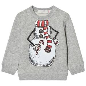 Stella McCartney Kids Unisex Jumpers and knitwear Grey Grey Snowman Print Biz Sweatshirt