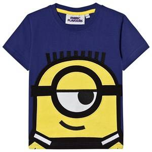 Fabric Flavours Boys Tops Blue Blue Minions Applique T-Shirt