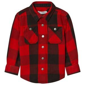 Stella McCartney Kids Boys Tops Red Red Melvil Check Shirt