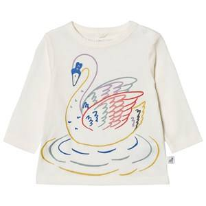 Stella McCartney Kids Girls Tops White White Multi Colour Swan Print Georgie Tee