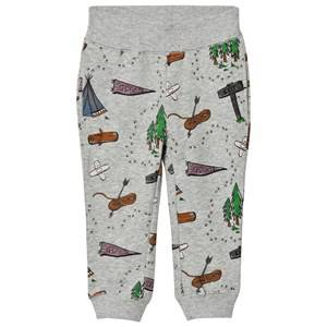 Stella McCartney Kids Boys Bottoms Grey Grey Explorer Print Zachary Sweat Pants