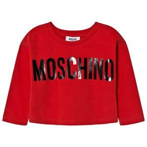 Moschino Kid-Teen Girls Tops Red Red Branded Boxy Tee