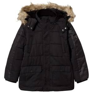 Mayoral Boys Coats and jackets Navy Black Padded Parka with Faux Fur Hood