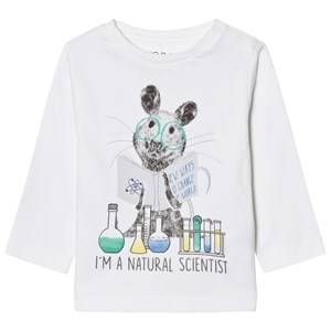 Mayoral Boys Tops White White Mouse Scientist Print Tee
