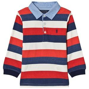 Mayoral Boys Tops Red Red, White and Navy Stripe Polo