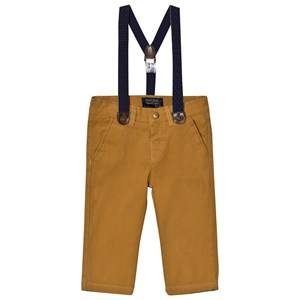 Mayoral Boys Bottoms Beige Beige Chinos with Braces