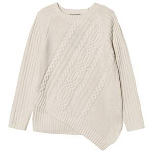 Mayoral Girls Jumpers and knitwear Cream Cream Asymetric Cable Knit Jumper