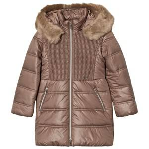 Mayoral Girls Coats and jackets Beige Beige Long Line Hooded Puffer Coat