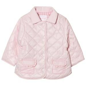 Mayoral Girls Coats and jackets Pink Pink Quilted Collared Coat
