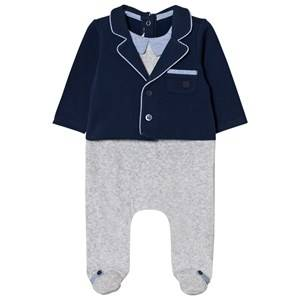 Mayoral Boys All in ones Navy Navy and Grey Suit Effect Footed Baby Body