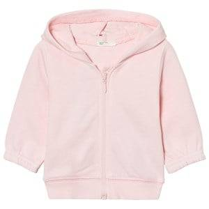 United Colors of Benetton Girls Childrens Clothes Jumpers and knitwear Pink Hooded Bear Jacket Pink