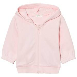 United Colors of Benetton Girls Jumpers and knitwear Hooded Bear Jacket Pink