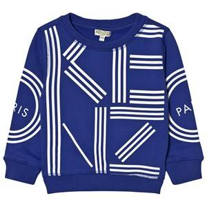 Kenzo Boys Jumpers and knitwear Blue Royal Blue Kenzo Logo Sweatshirt