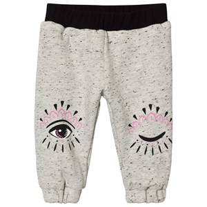 Kenzo Girls Bottoms Pink Reversible Eye Print Track Pants Grey/Pink