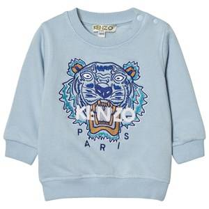 Kenzo Unisex Jumpers and knitwear Blue Pale Blue Tiger Print Sweatshirt