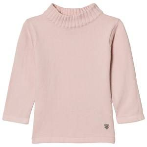 Mayoral Girls Jumpers and knitwear Pink Pale Pink Rib Polo Neck Jumper