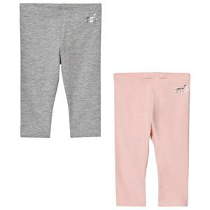 Mayoral Girls Bottoms Pink 2 Pack of Pink and Grey Leggings
