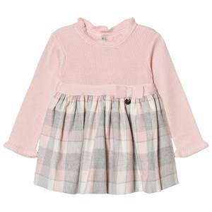 Mayoral Girls Dresses Pink Pink and Grey Plaid Knit Dress
