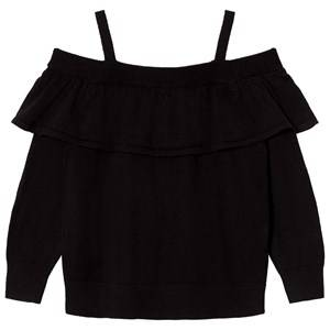 Little Remix Girls Jumpers and knitwear Black Aza Ruffle Off Shoulder Sweater Black