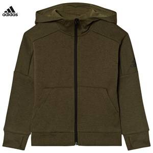 adidas Boys Jumpers and knitwear Green Khaki ID Stadium Hoodie