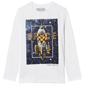 Mayoral Boys Tops White White Space Print Tee