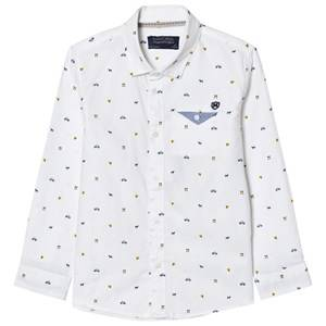 Mayoral Boys Tops White White Printed Long Sleeve Shirt