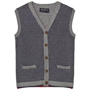 Mayoral Boys Jumpers and knitwear Grey Grey Houndstooth Design Vest