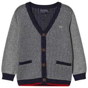 Mayoral Boys Jumpers and knitwear Grey Grey and Navy Houndstooth Design Cardigan