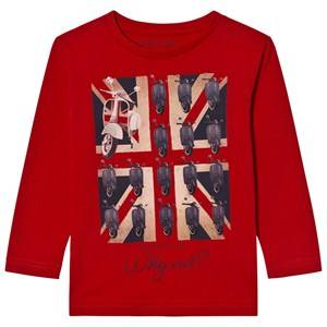 Mayoral Boys Tops Red Red Bike Union Jack Print Tee