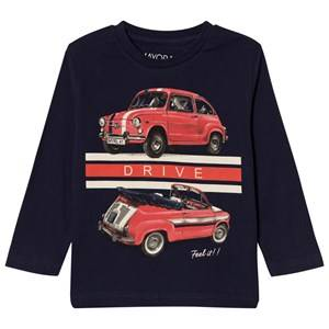 Mayoral Boys Tops Navy Navy Car Print Tee