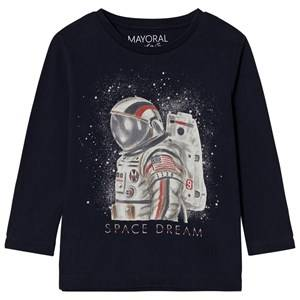 Mayoral Boys Tops Navy Navy Space Dream Long Sleeve Tee