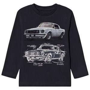 Mayoral Boys Tops Grey Grey Car Design Long Sleeve Tee