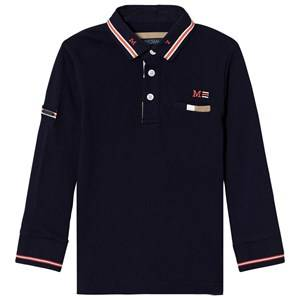 Mayoral Boys Tops Navy Navy Long Sleeve Polo