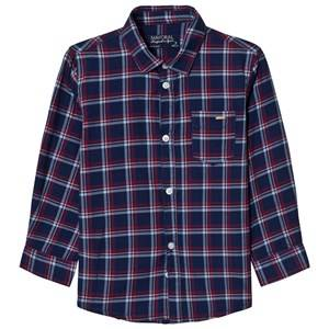 Mayoral Boys Tops Navy Navy and Red Check Shirt