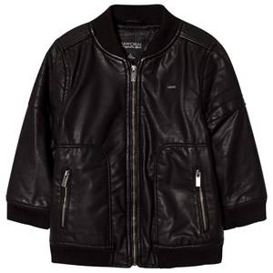 Mayoral Boys Coats and jackets Black Black Pleather Bomber Jacket