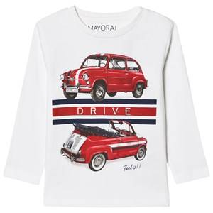 Mayoral Boys Tops White White Car Print Tee