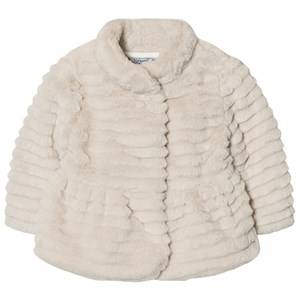 Mayoral Girls Coats and jackets Beige Beige Textured Faux Fur Coat