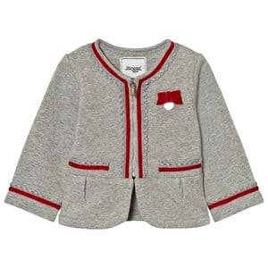 Mayoral Girls Coats and jackets Grey Grey Milano Blazer Velvet Bow Trims