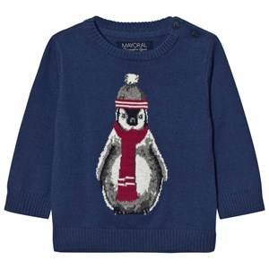 Mayoral Boys Jumpers and knitwear Blue Blue Penguin Jumper